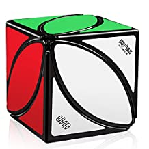 D-FantiX QiYi MoFangGe Ivy Cube FengYe Skewb Shape Puzzles Black with Cube Stand