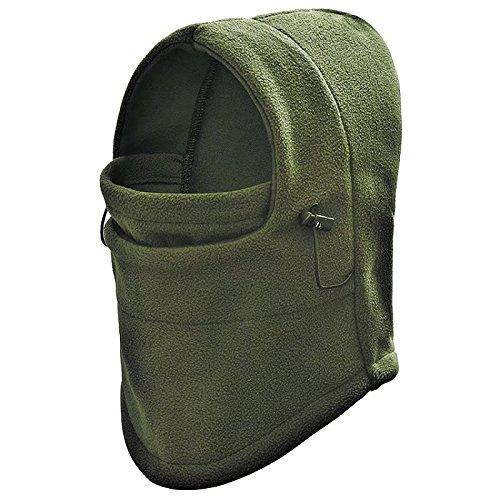 Green Fleece Hat (TaoRong Kids Fleece Ski Mask Windproof Hat/Hood Balaclava Full Face Mask (Green))