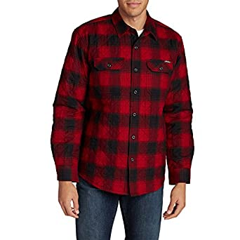 Amazon.com: Eddie Bauer Men's Eddie's Favorite Flannel Quilted ...