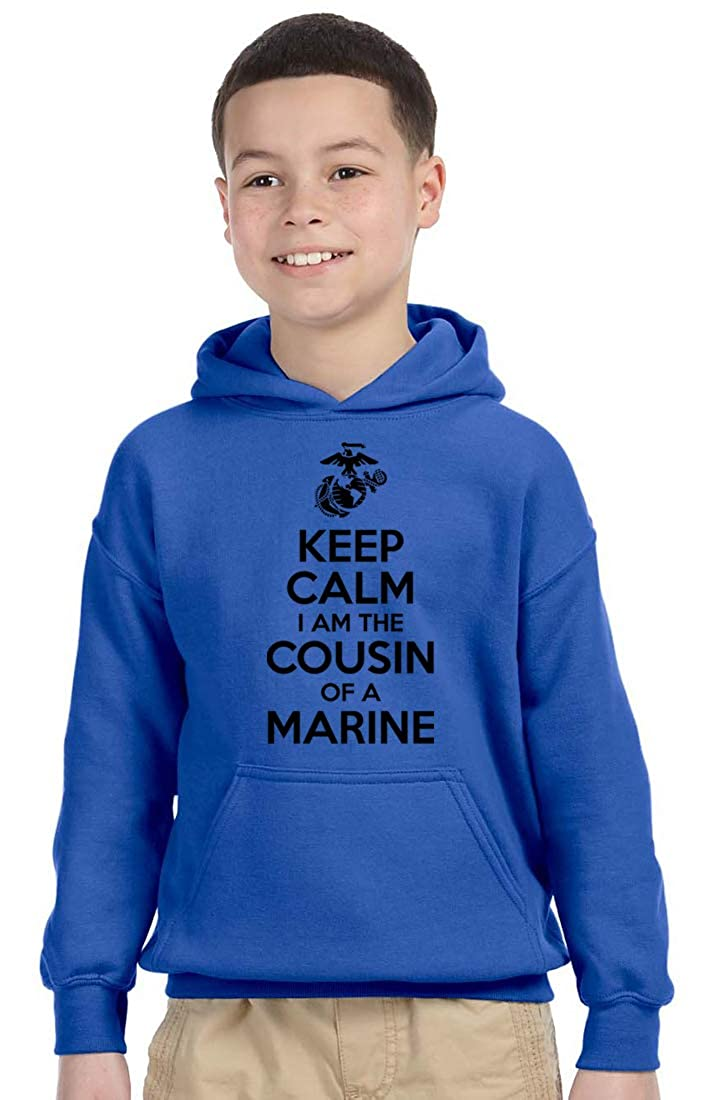 Keep Calm I am The Cousin of a Marine Marine Kid Shirt USMC Cousin Marine Corps USMC Cousin USMC Youth Hoodie