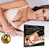 Anti-Wrinkle Chest Pads 2 Pack Decollete Pad for Chest Wrinkles Set of 2 Silicone Pads for Chest Wrinkles, 2 Reusable Medical Grade Silicone Pads Wrinkle Prevention and Treatment Patches, Cruelty-free