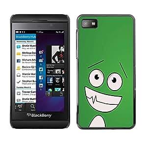 YiPhone /// Prima de resorte delgada de la cubierta del caso de Shell Armor - Funny Happy Face;; - Blackberry Z10
