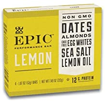 EPIC Performance Bar Lemon, 7.48 oz, 4 Count