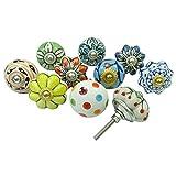 Lot Of 10 Pcs Decorative Cabinet Ceramic Knobs Kitchen Drawer Knob Cupboard Pull