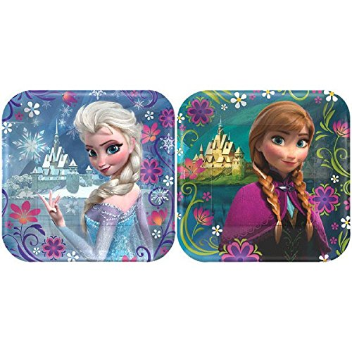 [Disney Frozen Dessert Plates 8ct (Assorted)] (Disney Frozen Party Square Dessert Plates)