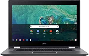 """Acer - Spin 15 2-in-1 15.6"""" Touch-Screen Chromebook - Intel Pentium - 4GB Memory - 64GB Solid State Drive - Sparkly Silver (Renewed)"""