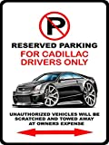 Cadillac CTS-V Classic Exotic Car-toon No Parking Sign