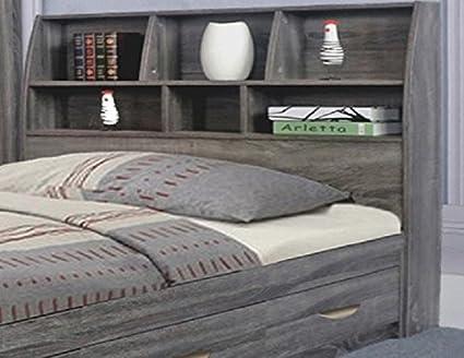 Amazon Com Y1601f Smart Home Distressed Grey Full Size Bookcase