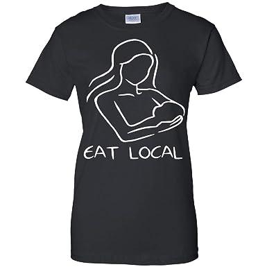 d8844a664e3d4 Amazon.com: Proud Nurse Funny Eat Local Breastfeeding for Nursing Moms Rac  - Funny Gift T-Shirt for Women: Clothing
