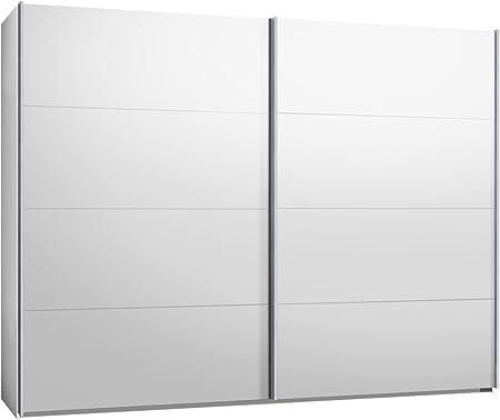 Armario de puertas correderas, armario, aprox 300 cm, blanco: Amazon.es: Hogar