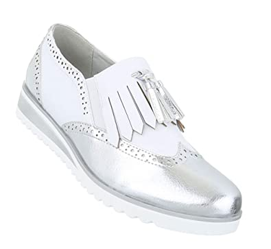 Schuhcity24 Damen Halbschuhe Dandy   Brogues Schuhe   Lack Schuhe ... 0be75cbf0d