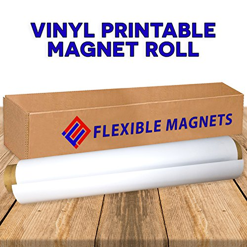 Flexible Vinyl Magnet Sheeting Roll-Super Strong - Many Sizes &Thickness- Commercial Inkjet Printable (2ft x 10 ft x 30 mil)