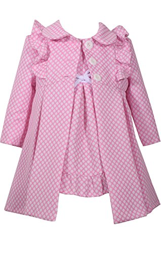 Bonnie Jean Baby-Girls Houndstooth Coat and Dress Set (3T, Polka - Coat Dress Pink