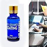 High Gloss Ceramic Car Coating Kit - Transer Super Hydrophobic Anti-Scratch Exterior Care Paint Car Polish Liquid Sealant 9H Hardness - 30ML (Blue #2)