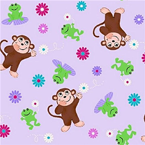 Premium Anti-Pill Monkey Frogs Fleece A62 (Monkey Fleece Fabric)