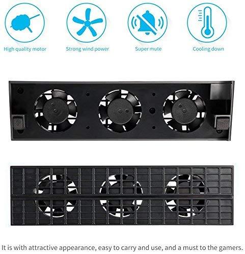 Accessoires de jeu Turbo r/églables Noir touche de contr/ôle de temp/érature externe DollaTek Console de syst/ème de refroidissement pour ventilateur de refroidissement Thermostat intelligent 3 pour System Station pour PS4 Slim