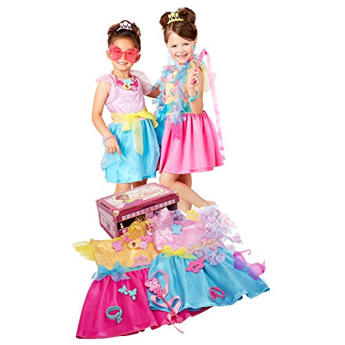 Fancy Nancy Ultimate Dress up Trunk, 13-Pieces, Pink/Multi Color, Fits Sizes 4-6X. [Amazon Exclusive]