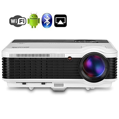 HD Home Projectors with Bluetooth WiFi, EUG...