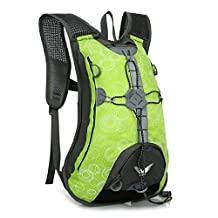 15L Professional Outdoor Sport Cycling Bicycle Riding Bike Backpack Packsack Running Backpack Fishing Vest Bag Hydration Pack (green)