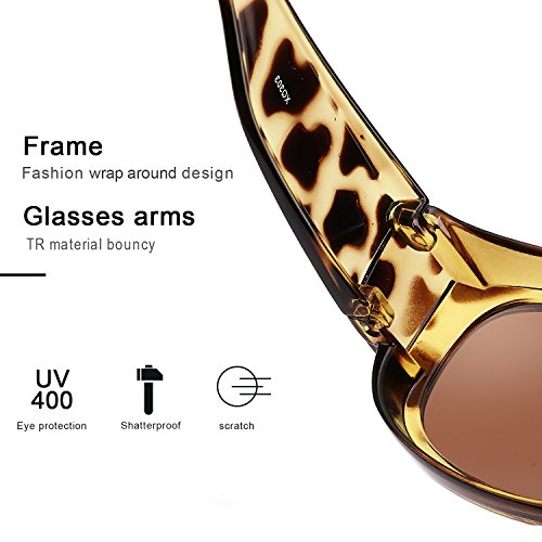 de Gafas Protección Carey Lectura UVB Marrón las Graduadas 100 Gafas de Sobre y UVA Polarizadas Gafas Sol Colocar Desgaste Normales Sobre I6xU5H