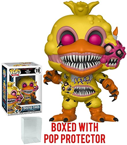 Funko Pop! Books: Five Nights at Freddy's The Twisted Ones - Twisted Chica Vinyl Figure (Bundled with Pop Box Protector Case)