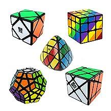 Qm-h Set of MOYU Yongjun 5 Pack Different Kinds of Gear Cube Sticker Magic Cubes Speed rubik's Black