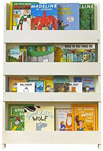 Tidy Books ® - Bücherregal Kinder | Cremeweiß | Wandregal Kinderzimmer |  Montessori Material | Holzregal | 115 x 77 x 7 cm | Nachhaltig und ...
