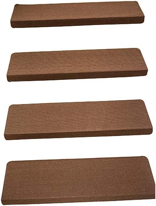 LinLiQiao Escalera Minimalista Nórdica, Material De Fibra Química, Absorción De Sonido Y Absorción De Impactos, Adecuada para Escaleras De Madera, 22 * 55 Cm / 8.7 * 21.6in, 4 Paquetes, Marrón: Amazon.es: Hogar