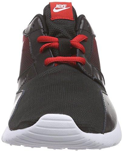 Nike Unisex-Kinder Kaishi Print (GS) Low-Top Schwarz (002 BLACK/WHITE-UNIVERSITY RED)