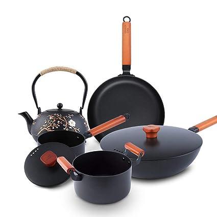 R&Y Conjunto de Utensilios de Cocina, Conjunto de sartén Antiadherente - Set de 5 Piezas