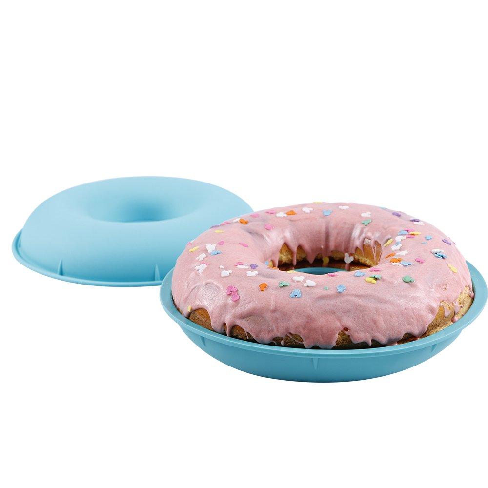 Webake Jumbo Silicone Donut Mold Non-Stick Cake Pan Set of 2 by Webake (Image #1)