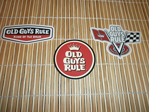 3 OLD GUYS RULE V-FLAGS CIRCLE CROWN KING OF THE ROAD STICKER - Logo V Sunglasses