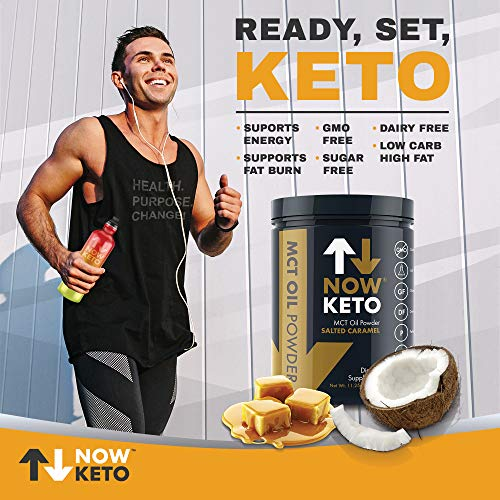 NOWKETO® from Coconuts Carb High Fat Medium Chain Triglyceride   Ketogenic Diet Supplement Boosts Ketones Diet. Great Creamer.