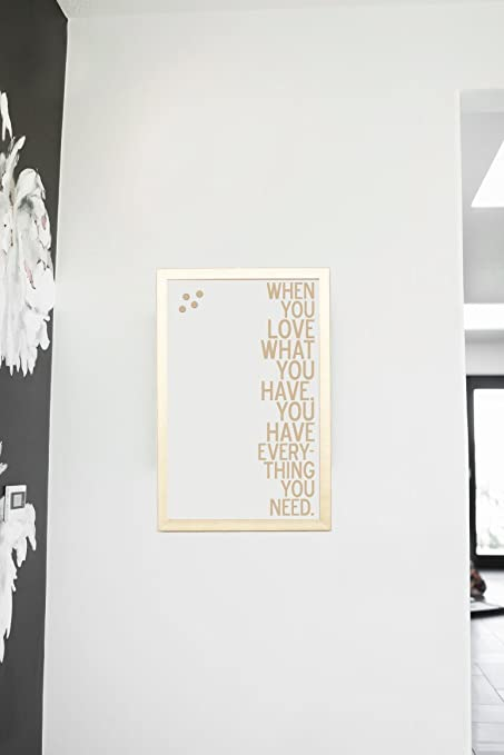 Amazon.com - Petal Lane Framed Magnetic Canvas Wall Art - Gold Frame ...