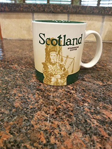 Starbucks Scotland Uk Burgh Global Icon 16 Oz Coffee-tea Mug Rare