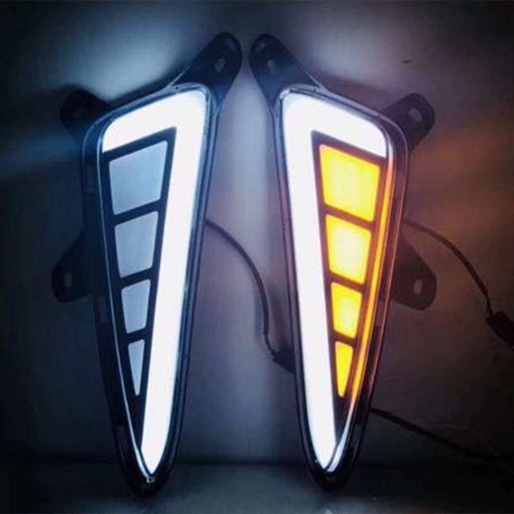 LED Daytime Running Light DRL Turn Signal Lamp Bumper Light for Toyota CHR 2016-2018 Type B