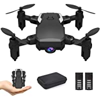 B-Qtech Mini Drone with Camera HD 1080P, Foldable RC Quadcopter, Optical Flow Fixed Height, Altitude Hold Headless RTF…