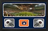 Encore Select 657-02 NCAA Auburn Tigers Custom Framed Sports Memorabilia with Two Mini Helmets Photograph and Name Plate