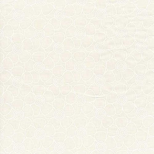 Choice Fabrics Tone on Tone Quilt Back 108 Inch White Outline Daisy