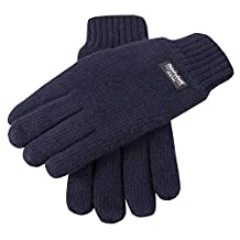 Navy Plain Knitted Gloves by Dents - Extra Large