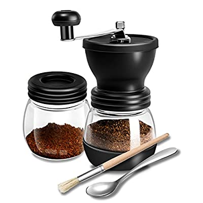 Aikfun Coffee Grinder, Hand Crank Coffee Mill, Quiet and Portable Conical Ceramic Manual Burr Grinder(350ml/12oz) from Aikfun
