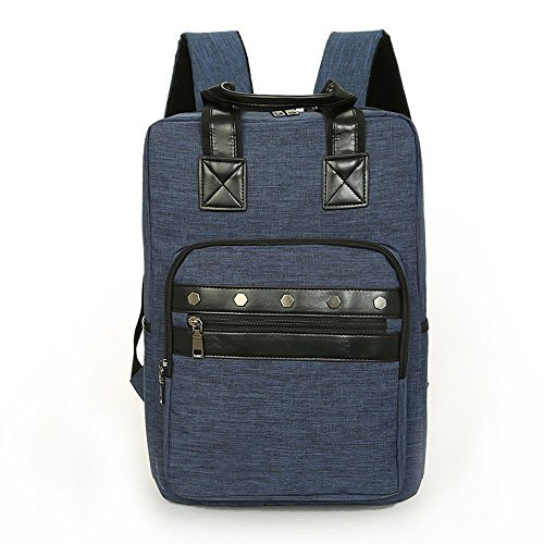Unisex Vintage Casual Rivets decorated backpack Travel Bags (navy - Cheap Oakley.com