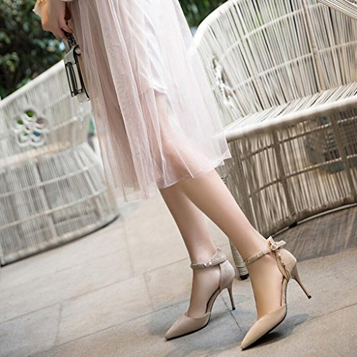 Pointed Female Heels High Heel Vamp Color Buckle Work Word Scrub Sole Thin Summer Wrapped Rubber 3 Light Sandals Shoes Toes Shoes 6qWzwvOZnE
