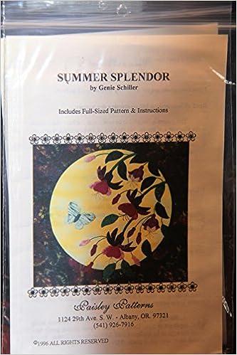 Summer Splendor By Genie Schiller Paisley Patterns Includes Full