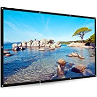 120 inch Portable Projector Screen,Joyhero 16:9 PVC Fabric HD Movie Screen for Home theater meeting rooms Outdoor Indoor screen With NO Fold (120inch)