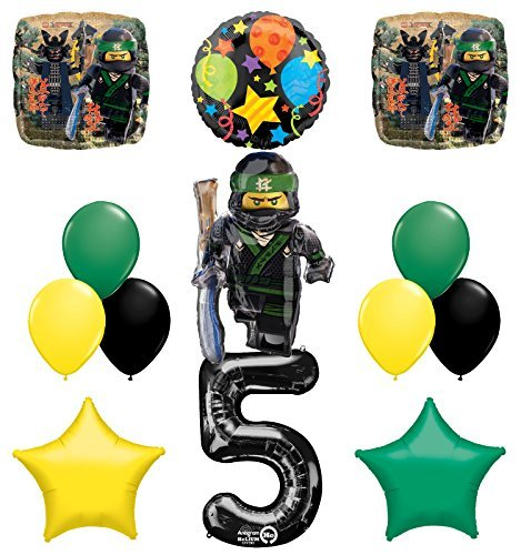 The Ultimate Lego Ninjago Fifth 5th Birthday party supplies and Balloon Decorations]()