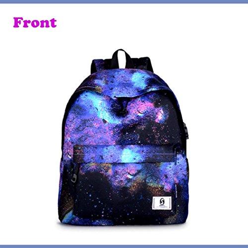 DBHAWKinEU - Bolso mochila  para mujer Multicolor A 30cm * 17cm * 39cm Multicolor A