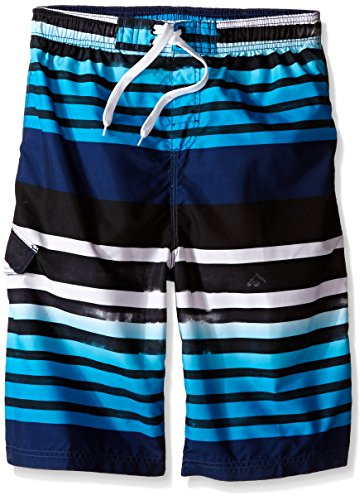 Bathing Suit Boys - Kanu Surf Big Boys' Reflection Quick Dry Beach Swim Trunk, Navy, Large (14/16)