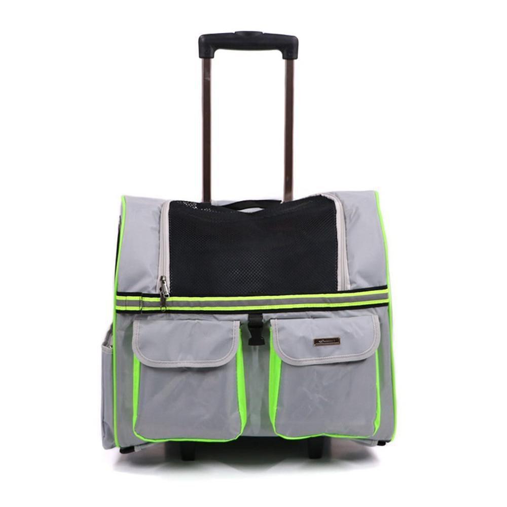 Daeou Zaino per animali domestici Nylon fuori-leva scatola doppia spalla zaino portatile cane bagagli gatto gabbia, 45  24  38 cm