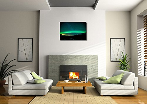 Beautiful Scenery Landscape Northern Lights Aurora Arc in Sweden Wall Decor